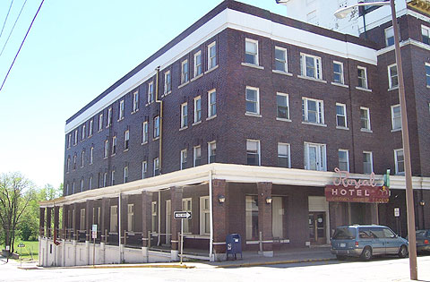 The Royal Hotel In Excelsior Springs Missouri Was Constructed Over A Period Of Years Beginning 1898 Oldest Portion Building First